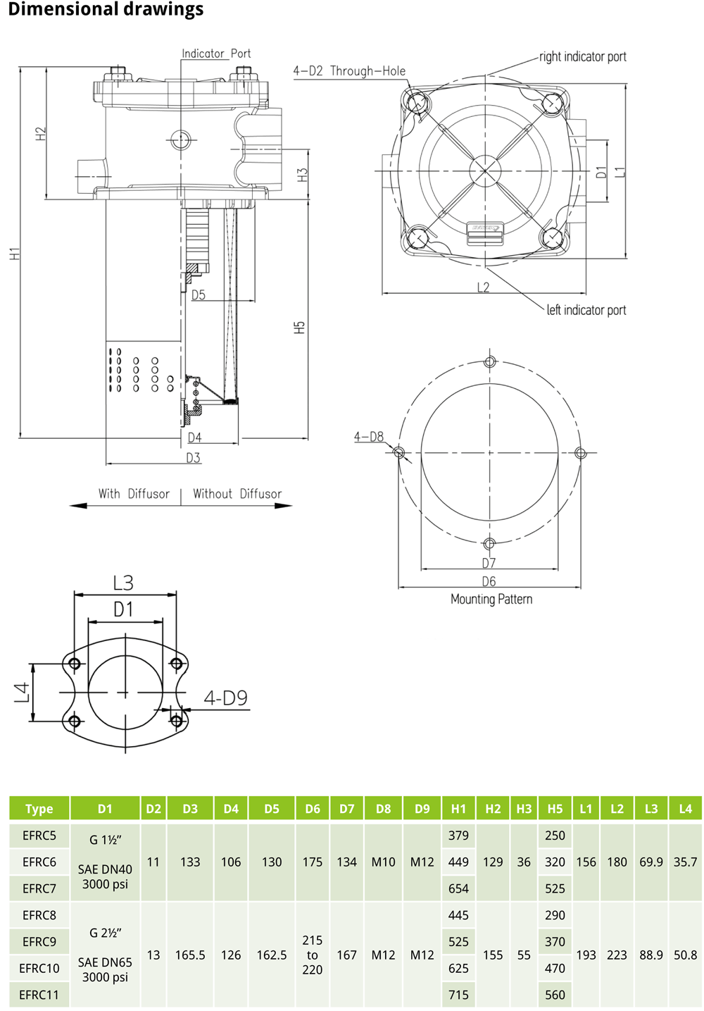 EFRC EVOTEK return filter drawing