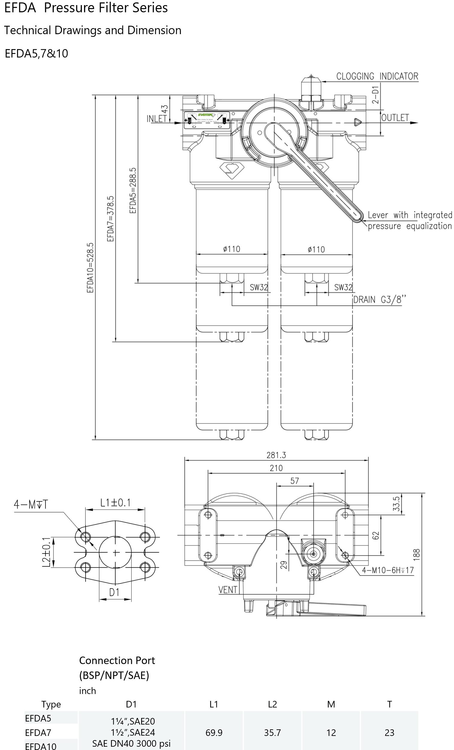 Evotek EFDA schematic drawing